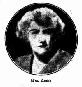 Mrs Elsie Leslie