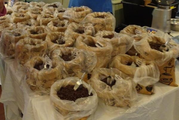 Coffee selection at the Blackheath Christmas Market.