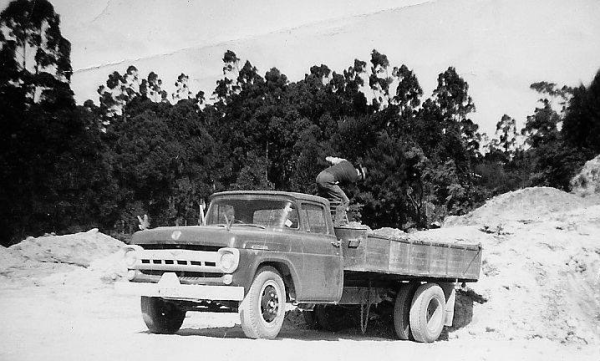 Jack Smith and his gravel truck.