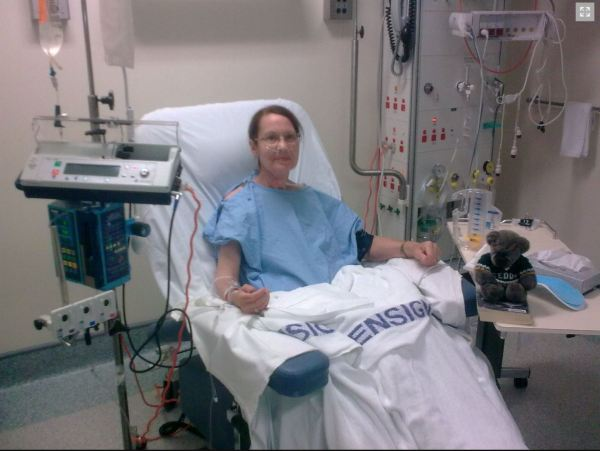 Pauline Conolly at The San after heart surgery