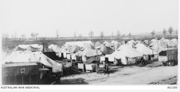Field hospital in France during WWI