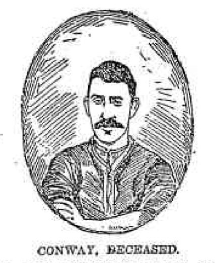 Patrick Conway, who died at sea after a suspected poisoning.