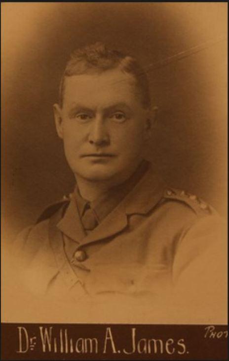 Dr William Abel James, who married  Evelyn Marsden.