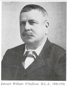NSW Miniter Edward O'Sullivan