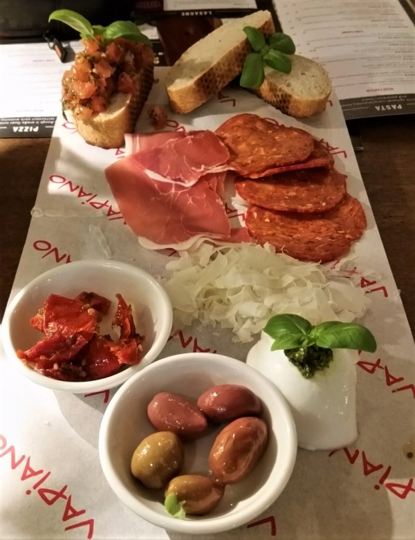 Antipasto at Vapiano in Sydney