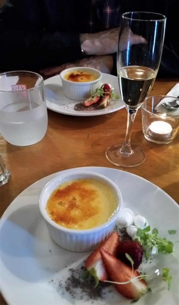 Creme Brulee at the Victory Café in Blackheath