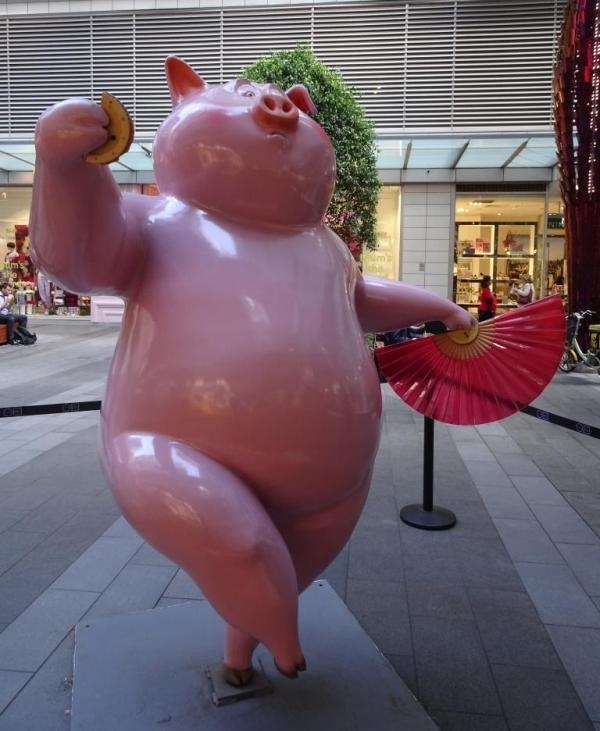 Miss Piggy in Sydney's Chinatown