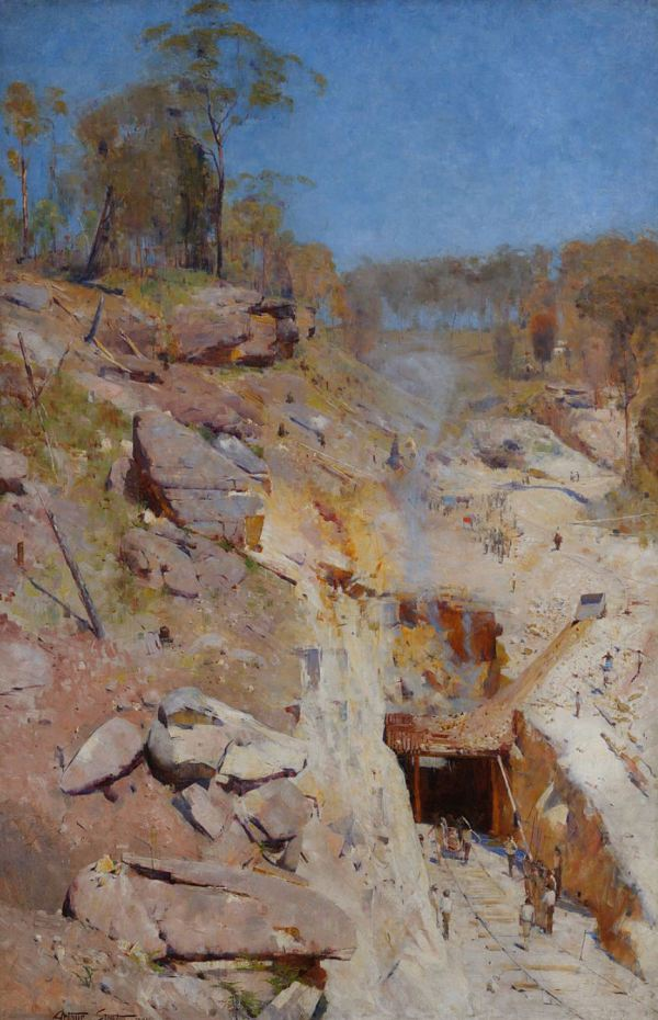 Fire's On, the wonderful painting of Glenbrook tunnel by Arthur Streeton.
