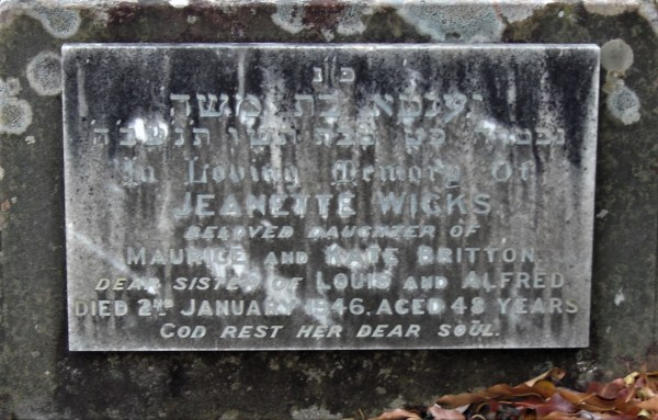 Grave of Jeanette Wicks