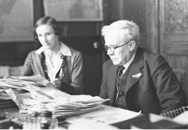 Andrew Grace and his secretary circa 1930