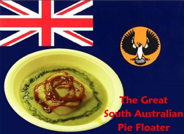 The pie floater sold at horse drawn pie carts.