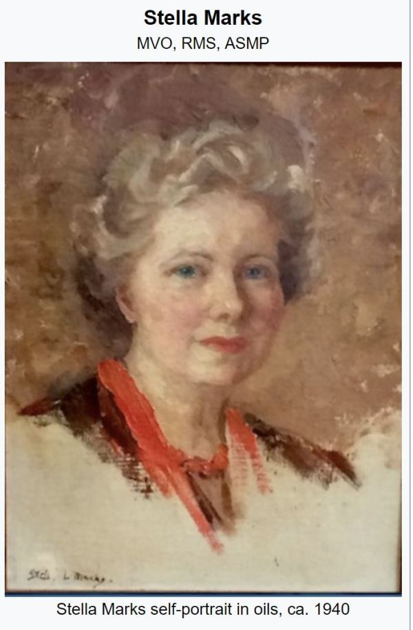 Stella Marks, who painted the lost portrait  of Edith Cavell.