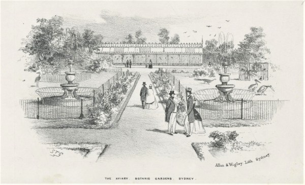 Image of the old aviary in Sydney's Botanic Gardens