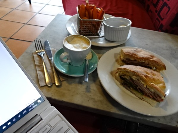 Writer's lunch at the Wattle Cafe.