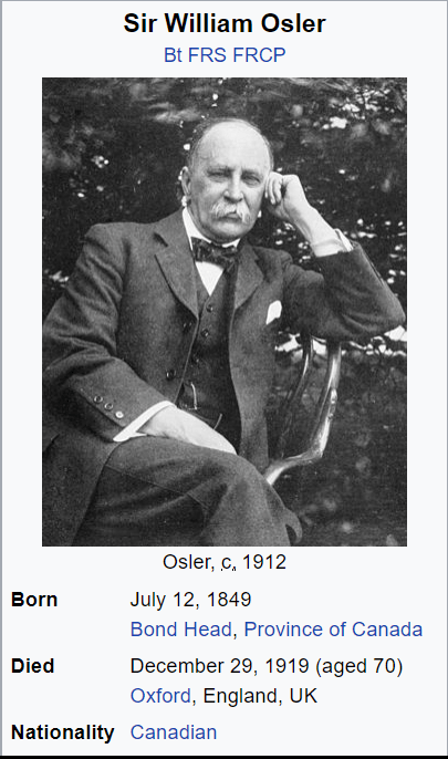Sir William Osler, who had no time for anti-vaxxers.