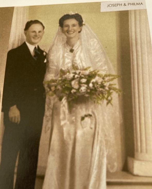 Joe and Philma Richards on their wedding day.