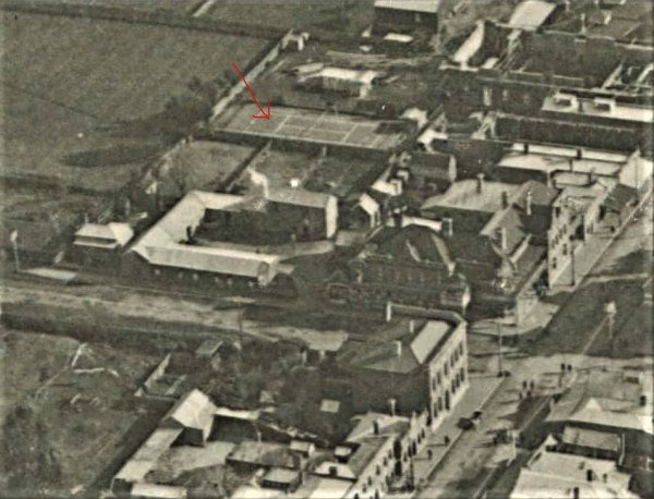 Layout of Furner's Hotel premises, including  the stable complex .
