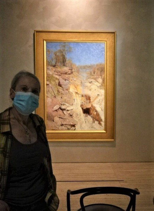 The Streeton  painting on show at the Art Gallery of NSW.