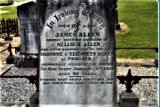 Grave of  James Allen, who died at Derby in 1926