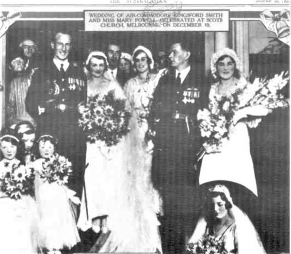 Kingsford Smith and Mary Powell wed.