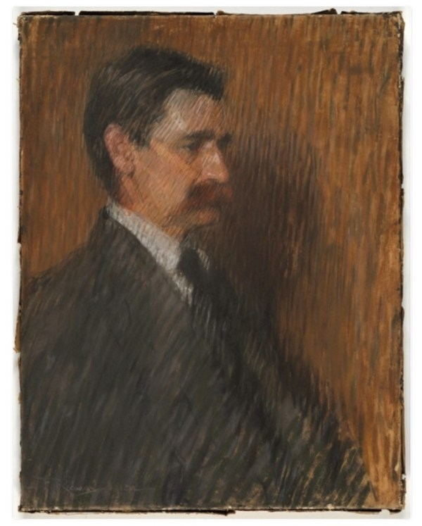 Portrait of Henry Lawson by Florence Rodway.