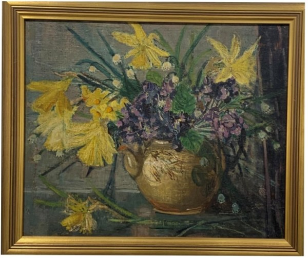 Spring flowers by Edith Holmes.