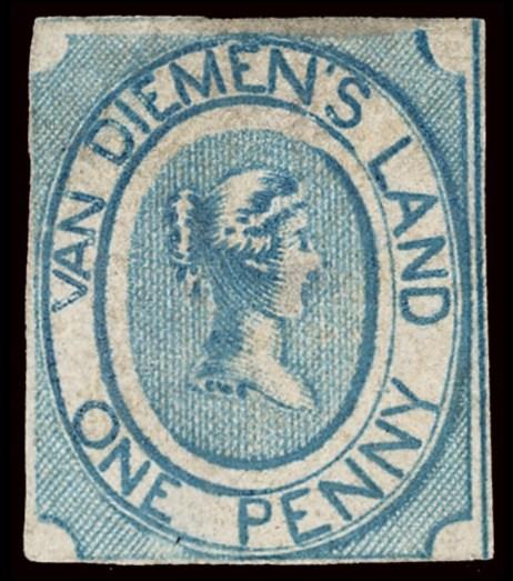 Van Diemen's Land Stamps, engraved by C.W. Coard.