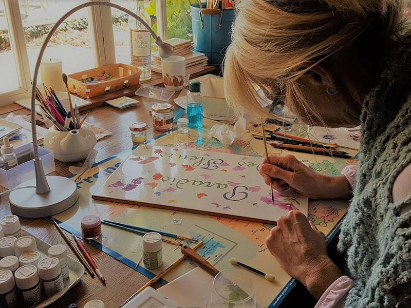 Pauline ziet te schilderen