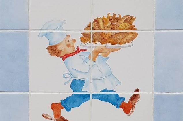 Tegeltableau   Le Vieux Boulanger
