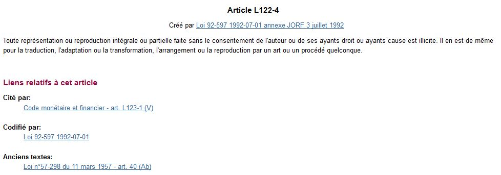 que faire en cas de plagiat ? Article L122-4