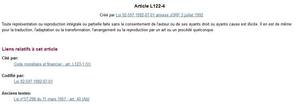 que faire en cas de plagiat ? Article L122-4