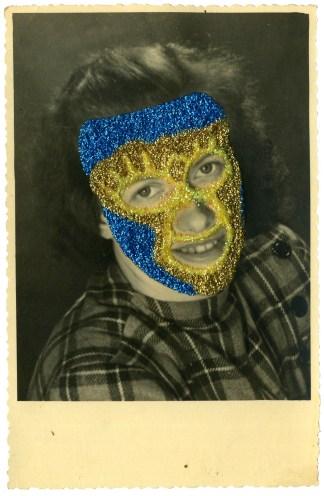 femme or jaune et bleu