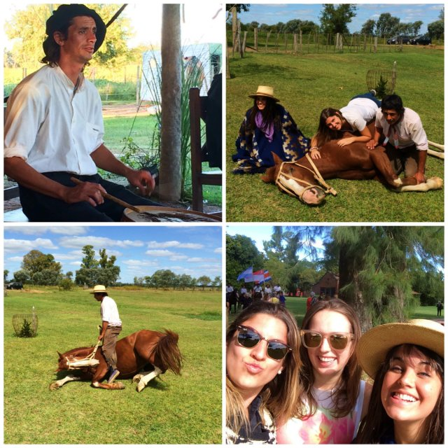 Gaucho is the ultimate Argentinean Experience her with girls enjoying the pampas