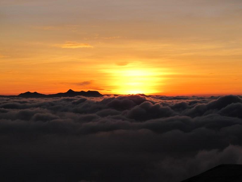 Adam's Peak and surise have started