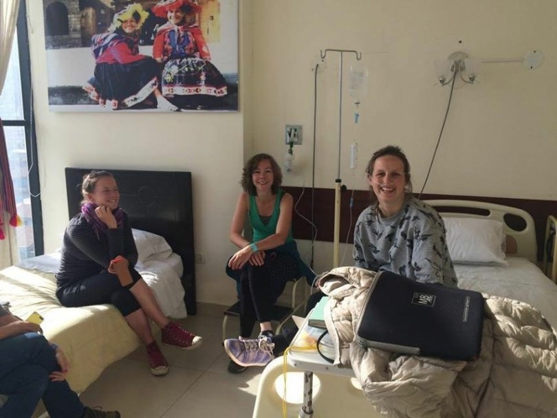 traveling with food allergy - In the hospital in Peru - Cusco