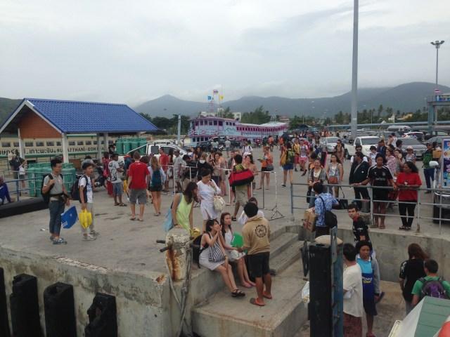 Koh Phangan at the pier