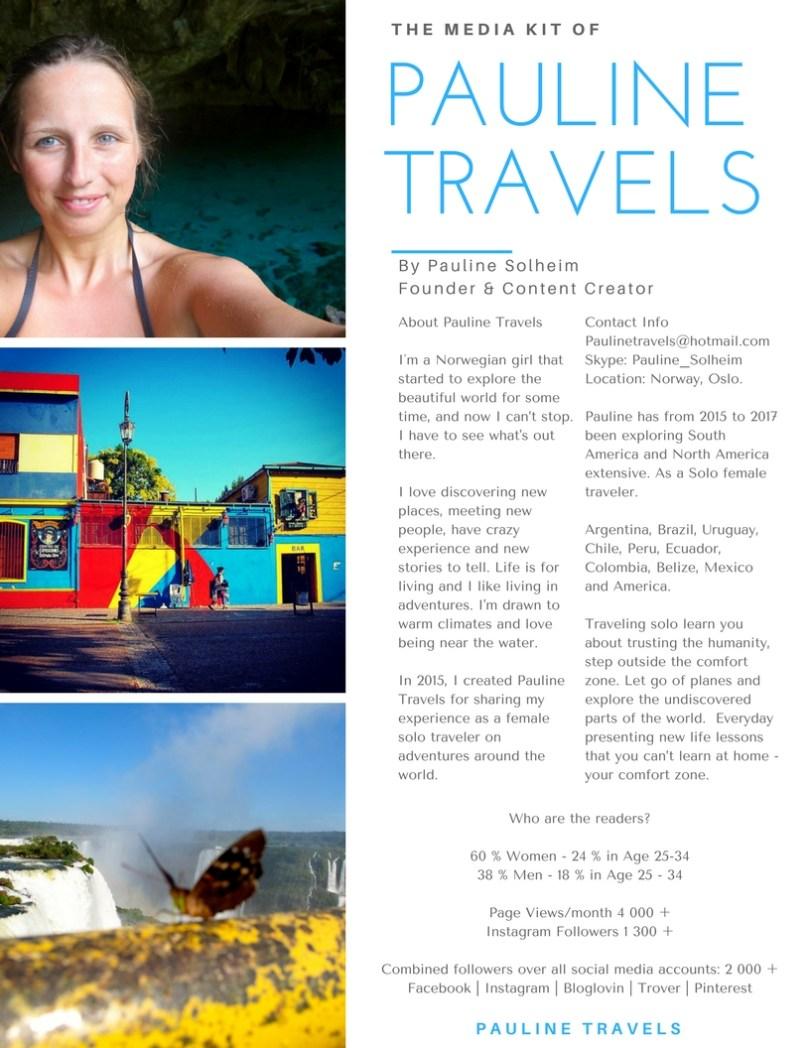 Social Media Kit - Pauline Travels Blog - Adventures Worldwide from a Solo Female Traveler
