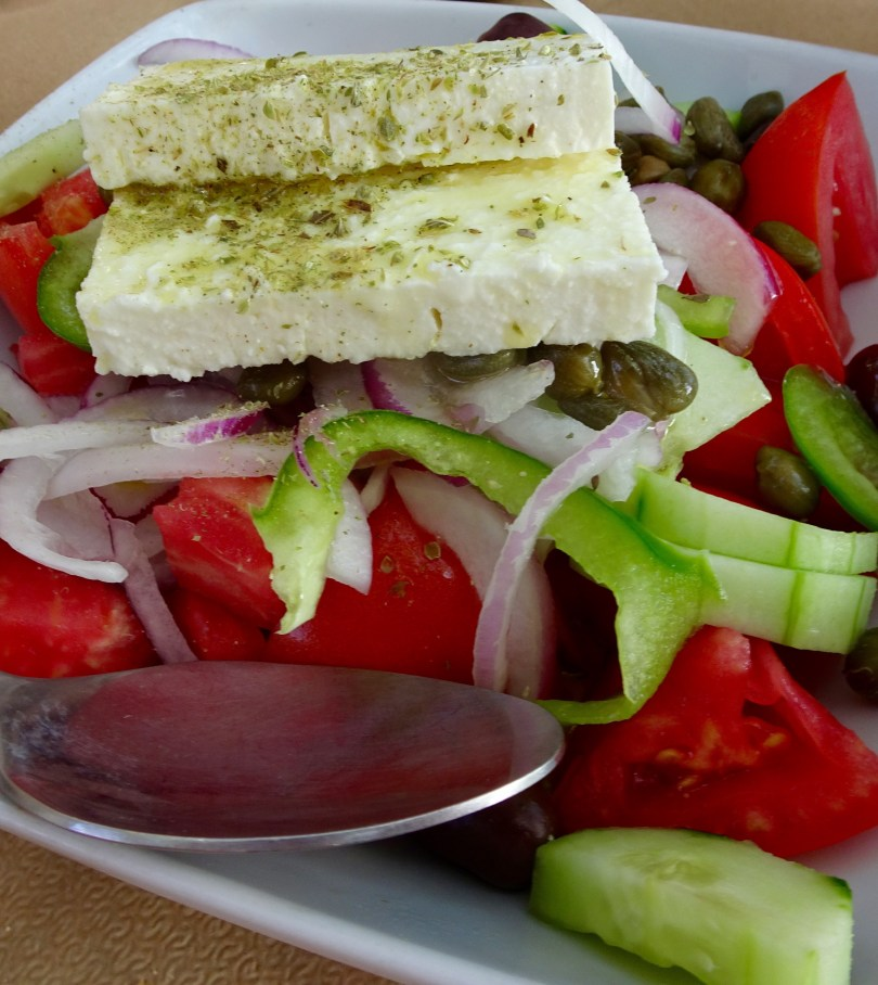 Antiparos the island of tranquility in Cyclades Greek salad