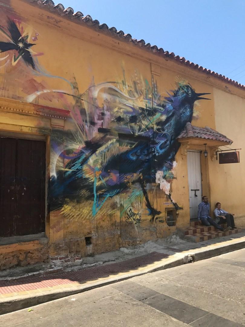 Maria Mulata in the corner of Plaza de la Trinidad in Getsemani - Street artist Yurika mdc