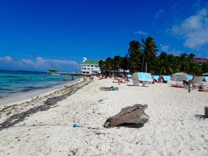 The City Beach at San Andres Island in Colombia.