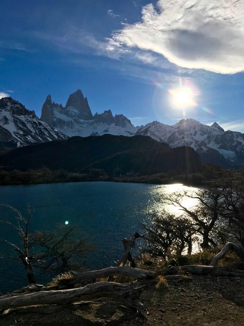 Laguna Capri close to Fitz Roy, Patagonia Argentina 2018.