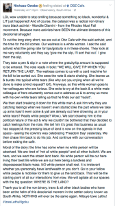 2016-04 Ntokozo Qwabe FB post about his humiliation of Ashleigh Schultz