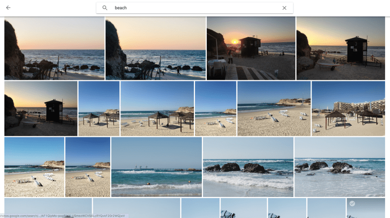 Beach photo memories in Google Photos