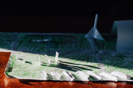 Our son created this air force base with paper. He is very proud of it and I decided to document it.