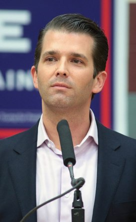 Donald Trump Jr speaking at at event