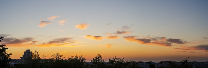 Sunset in central Israel