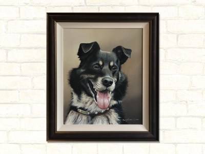 Old Shep Dog Paul James Original Artwork Framed