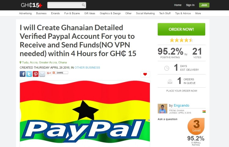 how to create paypal in ghana