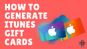 how to generate itunes gift cards f