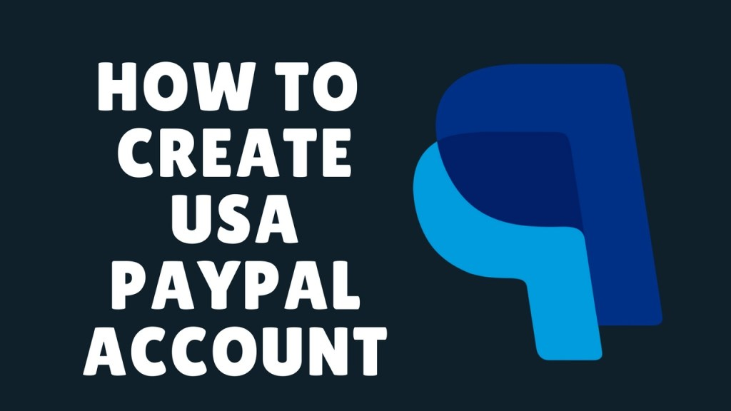 how to create a usa paypal account